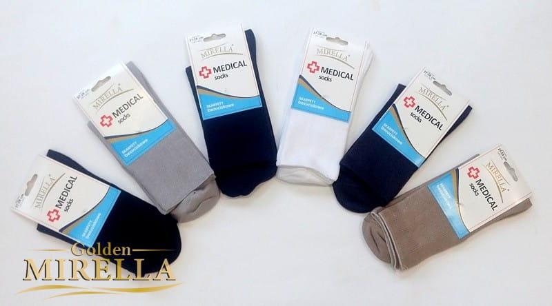 Skarpety damskie bawełniane zdrowotne Medical