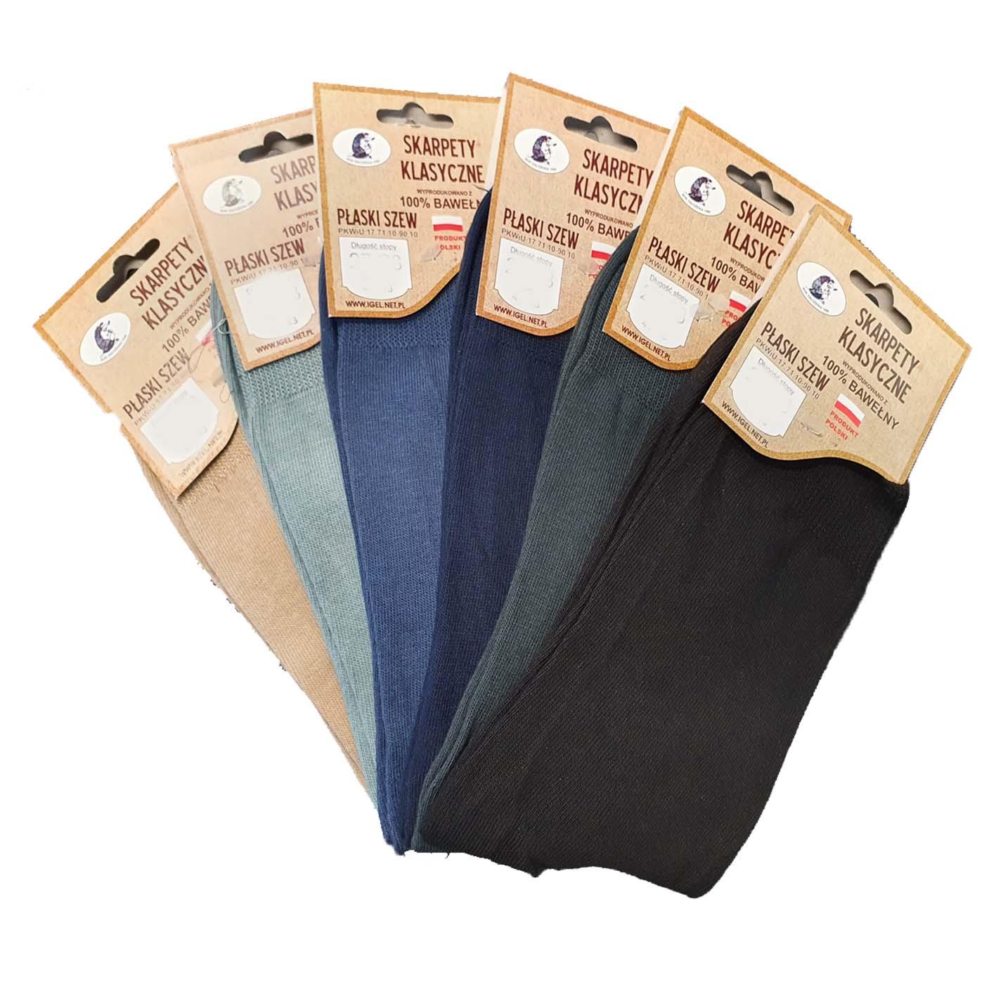 Klasyczne skarpety garniturowe